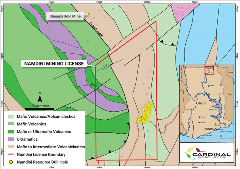 NAMDINI: Ghana – Cardinal Resources